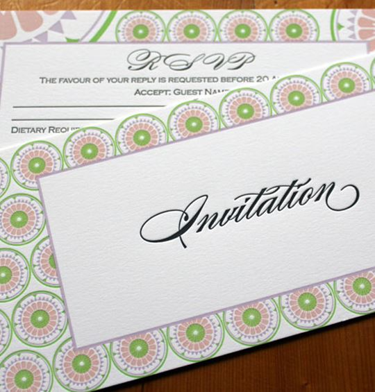 The wedding invitation rules